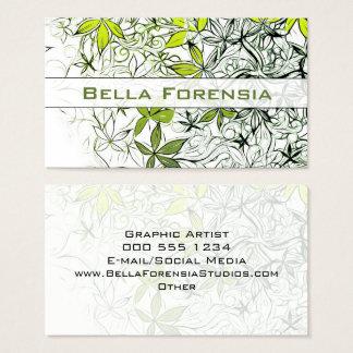 Moderner Blumenhintergrund 234 Visitenkarte