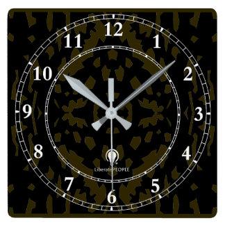 Moderner dekorativer Kauf der Wanduhr-Designer#2 Quadratische Wanduhr