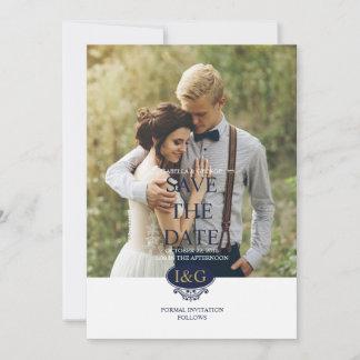 Modern Print The Love Save The Date Wedding Card