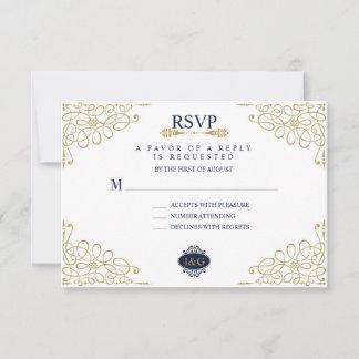Modern Print The Love Wedding RSVP Card
