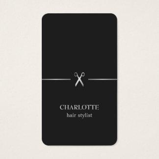 Moderner eleganter Chic-Imitat-Silber-schwarzes Visitenkarten