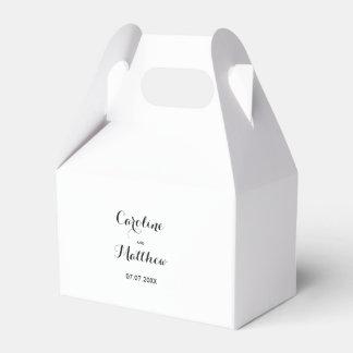 Moderner eleganter Gastgeschenk Hochzeits-Kasten Geschenkschachtel