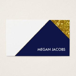 Moderner eleganter Marine-Imitat-Goldschein Visitenkarte