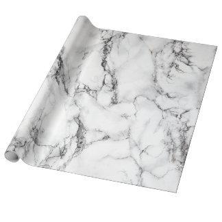 moderner eleganter weißer Marmorstein Geschenkpapier