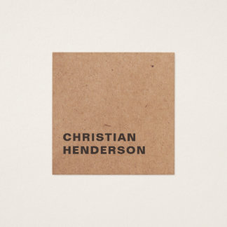Moderner eleganter weißer Packpapier-Berater Quadratische Visitenkarte