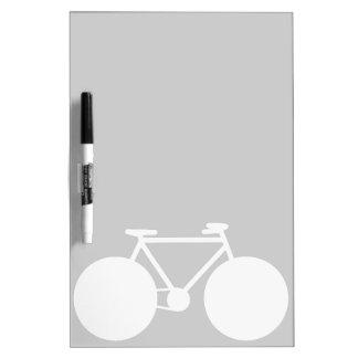 moderner Entwurf des weißen Fahrrades Memoboard