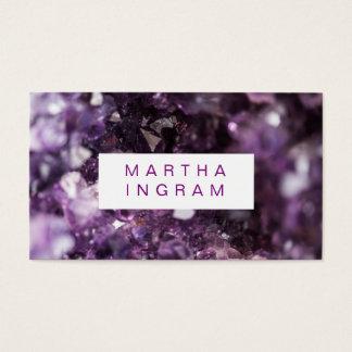 moderner Entwurfs-mutiger lila Amethyst Kristall Visitenkarte