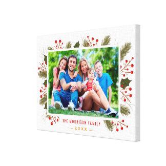 Moderner Feiertags-Weihnachtsfamilien-Foto-Rahmen Leinwanddruck