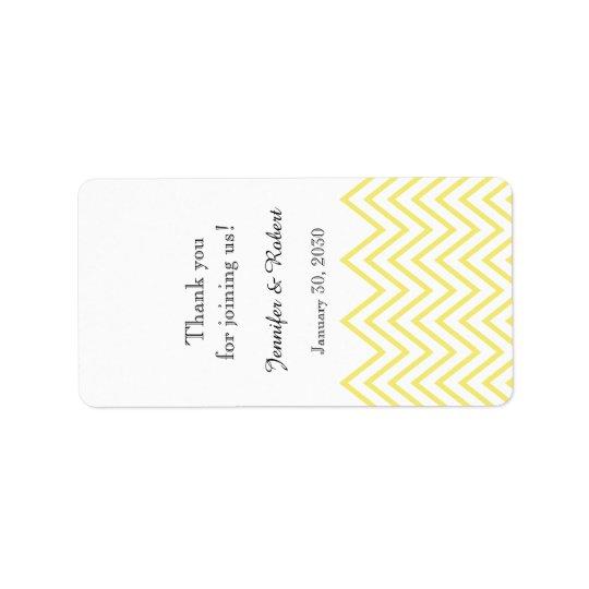 Moderner gelber Zickzack Adress Aufkleber