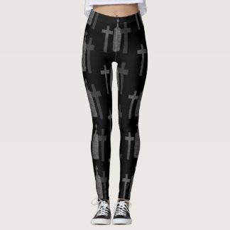 Moderner Halloween-Friedhof Leggings