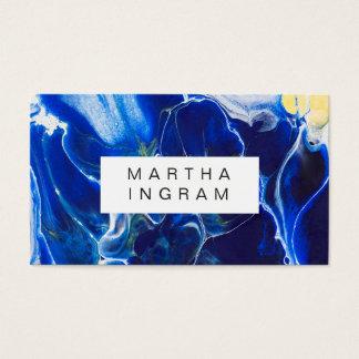 Moderner künstlerischer kreativer Entwurfs-blaues Visitenkarte