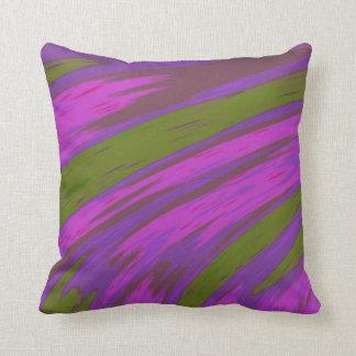 Moderner lila und grüne Farbabstrakter Entwurf Kissen