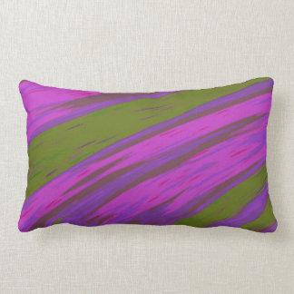 Moderner lila und grüne FarbSwish abstrakt Lendenkissen