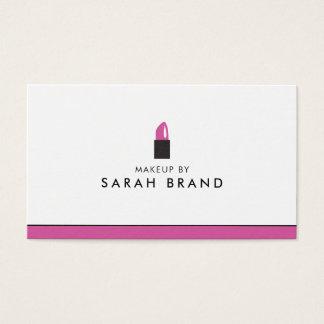 Moderner Maskenbildner-Lippenstift Visitenkarte