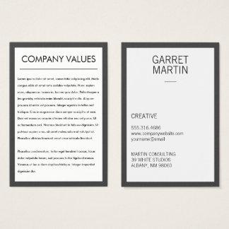 Moderner Minimalist (grau/Weiß) Visitenkarte