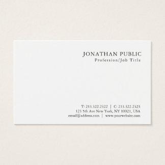 Moderner Minimalistic beruflicher nobler Entwurf Visitenkarte