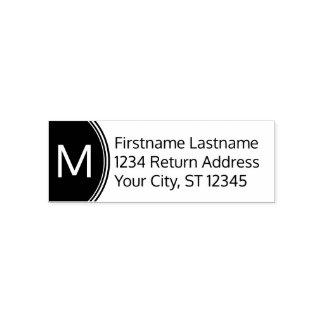Moderner Name und Rücksendeadresse mit Monogramm Permastempel