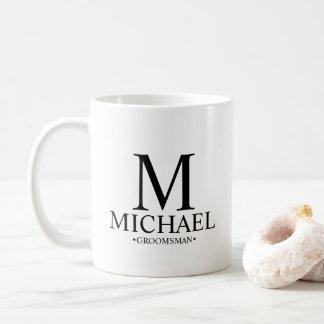 Moderner personalisierter Trauzeuge Kaffeetasse