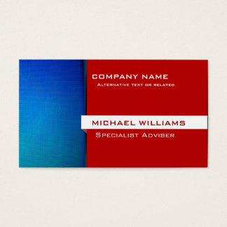 Moderner Professioneller Roter und Blauer Visitenkarte