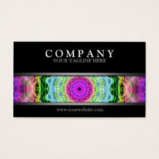 Moderner psychedelischer Wormhole Visitenkarte