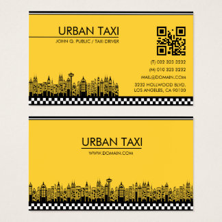 Moderner QR Code-Fahrerhaus-Taxi-Fahrer Visitenkarte
