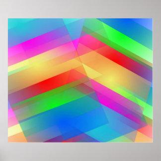 Moderner Regenbogen abstrakt Poster