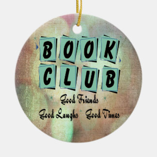 Moderner Retro Buchgemeinschaft-GruppeBibliophile Keramik Ornament