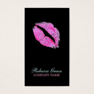 moderner rosa LippenMaskenbildner Cosmetologist Visitenkarte