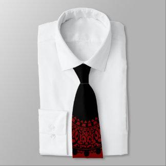 Moderner roter u. schwarzer viktorianischer krawatte