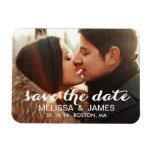 Moderner Save the Date Magnet mit Foto