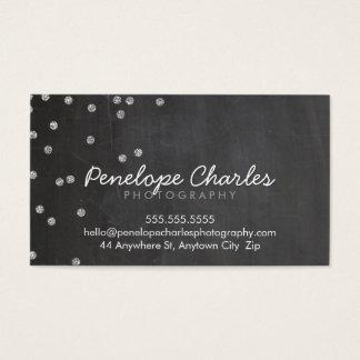 MODERNER silberner Glitter Confetti punktiert Visitenkarte