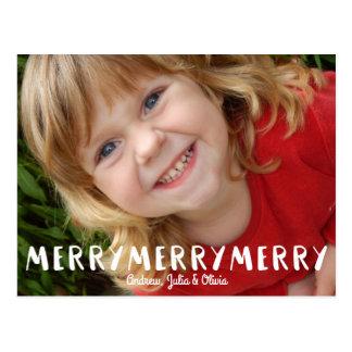 Moderner Spaß-fröhliches frohe Postkarte