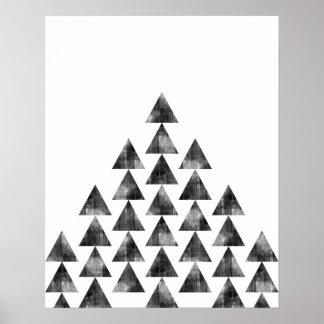 Moderner unbedeutender geometrischer poster