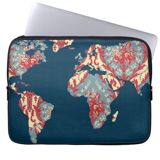 Moderner viktorianischer Weltreisend-Fall der Laptop Sleeve Schutzhülle