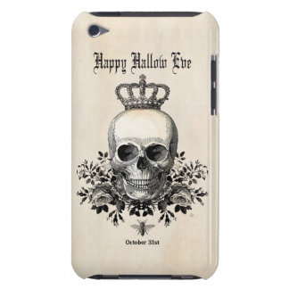 Moderner Vintager Halloween-Schädel mit Krone iPod Touch Case-Mate Hülle