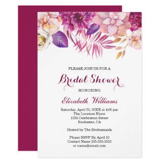Moderner Watercolor-BlumenBrautparty-Einladungen Karte