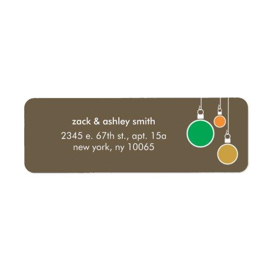 Moderner WeihnachtsRücksendeadresse-Aufkleber - Rücksende Aufkleber