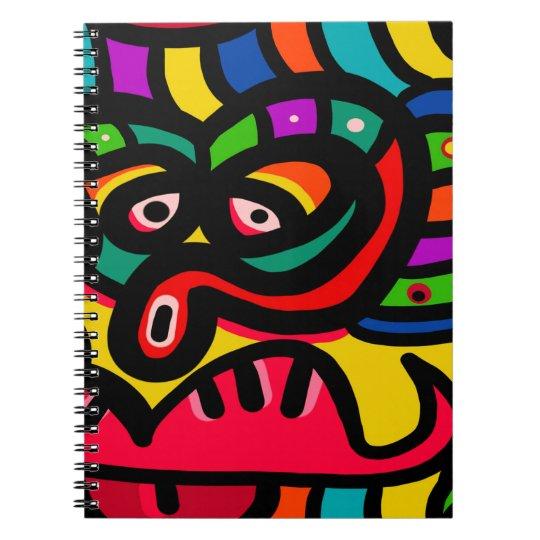 Modernes abstraktes Kunst-Gesicht Spiral Notizblock