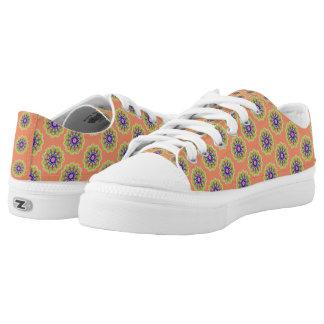Modernes abstraktes trendy Muster Niedrig-geschnittene Sneaker