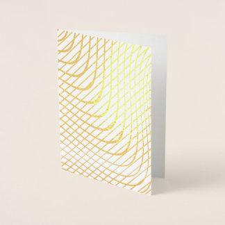 Modernes abstraktes unbedeutendes Gold Folienkarte