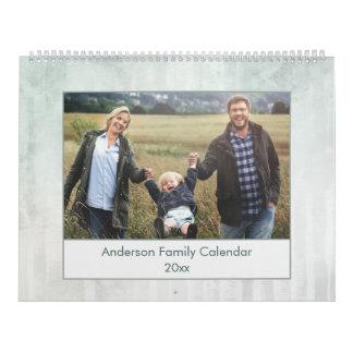 Modernes abstraktes Watercolor-Familien-Foto Abreißkalender