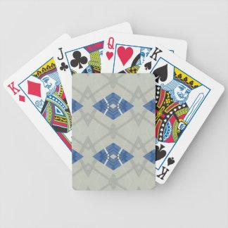 Modernes angesagtes blaues Grau-geometrisches Bicycle Spielkarten