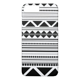 Modernes aztekisches Muster Schwarzweiss iPhone 8 Plus/7 Plus Hülle