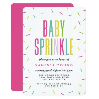 Modernes Baby besprühen Duschen-Einladungen Karte