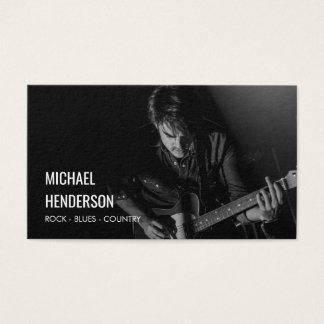 Modernes berufliches Musiker-Foto Visitenkarte