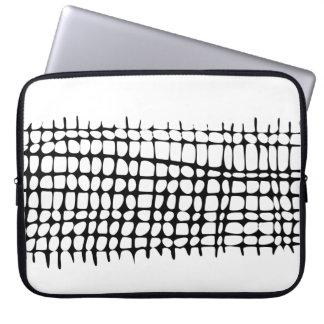 Modernes Bio Gitter-Schwarzweiss-Neopren Laptop Sleeve