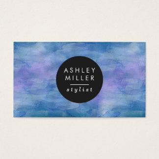 Modernes blaues Aquarell Visitenkarte
