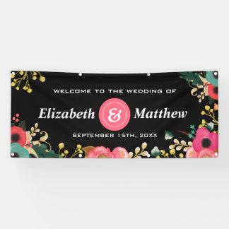 Modernes Blumenmuster-große kundenspezifische Banner