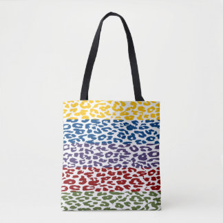 Modernes buntes Leopard-Haut-Muster Tasche