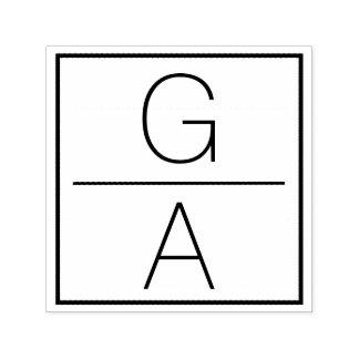 Modernes doppeltes Monogramm-Hochzeits-Logo Permastempel